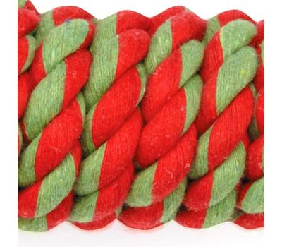 Canine Single String Tug with Tennis Balls for Medium to Giant Breed Dogs, 12 inches