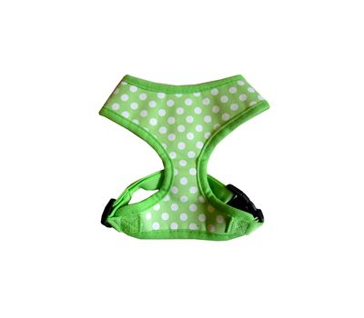 Puppy Love Spotted Cotton Vest Harness for Toy to Small Breed Dogs, green, medium