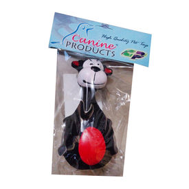 Canine Latex Squeaky Pet Toy, black cow