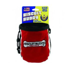 Petsport USA Biscuit Buddy Treat Pouch for Dog Training, red