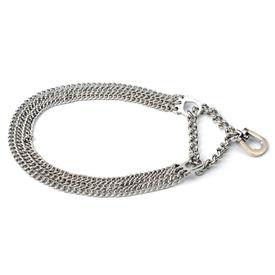 Kennel Triple Semi Choke Chain for Small Dogs, 12 inch