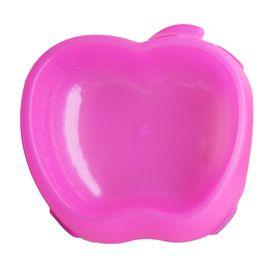 Canine Apple Shaped Plastic Feeding Bowl, small, pink