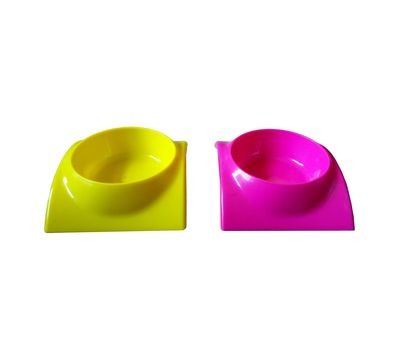 Canine High Quality Curved Stylish Bowl, pink