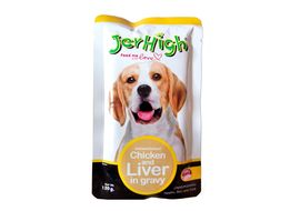 JerHigh Chicken and Liver in Gravy Dog Wet Food, 120 gms