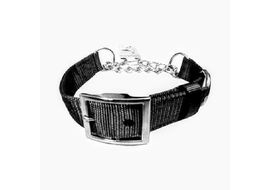 Canine Nylon Choke Collar for Small to Some Medium Dogs, small, black, 18 inch