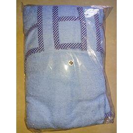 Zorba Designer Bathrobe for Medium Dogs, blue, 24 inch