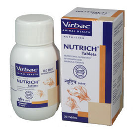 Virbac Nutrich Vitamins and Minerals Pet Supplement, 60 tablets