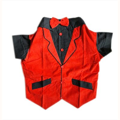 Zorba Party Tuxedo Suit for Large Dogs, red & black, 28 inch
