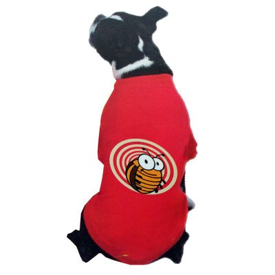 Canes Venatici Bugz Free Repellent Gear Tshirt for Large Dogs, red, 26 inch