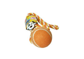 Pet Brands UK WOW Tennis Ball Tug Toy For Dog, regular, orange