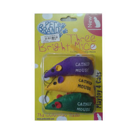 Pet Brands 3 X Playtoy Mouse Catnip, assorted