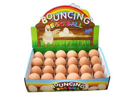Solid Rubber Scented Crazy Bouncing Egg Toy, universal