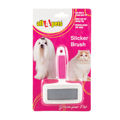 All4Pets Slicker Brush for Dogs and Cats, pink