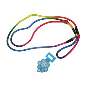 Jin Xin Rainbow Nylon Dog Show Leash, rainbow, med, 57 inch