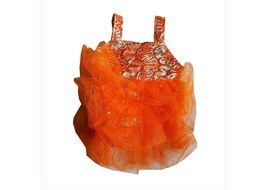 Zorba Shimmering Frock for Cats, orange, 8 inch