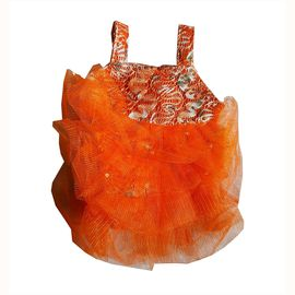 Zorba Shimmering Frock for Small Cats, orange, 8 inch