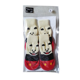 Puppy Love Anti Skid Sock Shoes for Medium Breed Dogs, red, large