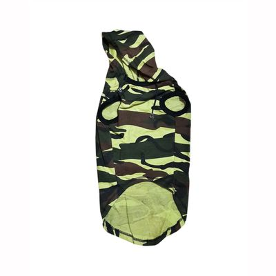 Zorba Designer Camouflage Hoodie Tshirt for Toy Dogs, 10 inch