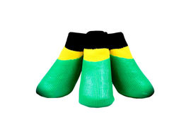 Puppy Love Neon Anti-Slip Waterproof Sock Shoes for Medium to Large Breed Dogs, large, neon green