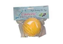 Canine Thick Vinyl Squeaky Ball, yellow