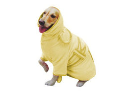 Zorba Designer Bathrobe for Dogs, yellow, 20 inch