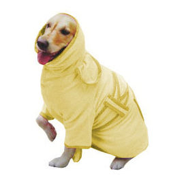 Zorba Designer Bathrobe for Small to Medium Dogs, yellow, 20 inch