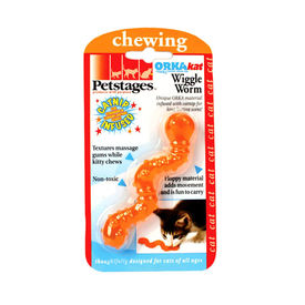 Petstages USA ORKA Kat Wiggle Worm for Cats, universal