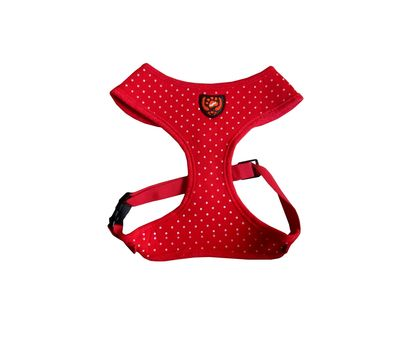 Puppy Love Spotted Cotton Vest Harness for Small to Medium Breed Dogs, blue, extra large