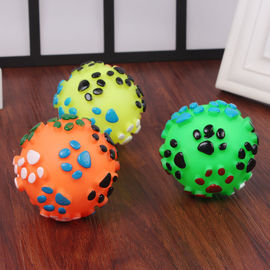 Vinyl Paw Printed Squeaky Ball Dog and Cat Toy, medium, assorted