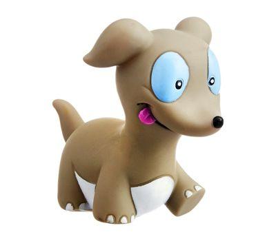 Karlie Vinyl Puppy Squeaker Dog Toy, grey