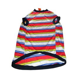Rays Striped Thick Tshirt for Giant Breed Dogs, red, 36 inch