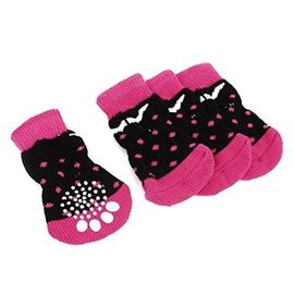 Puppy Love Anti Skid Socks for Medium Breed Dogs, pink polka , large