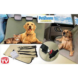 PetZoom Loungee Auto Pet Back Seat Cover for Dogs & Cats, universal, black