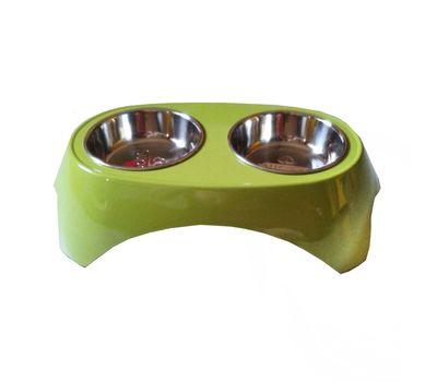 Imported High Quality Melamine Double Steel Bowl Set, small, orange