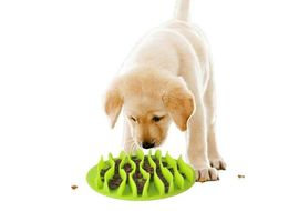 Dougez Fun Silicone Anti Choking Slow Feeder Mat for Dogs, green, large