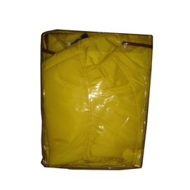 Zorba Designer Dual Protection Safety Raincoat for Large Dogs, yellow, 30 inch