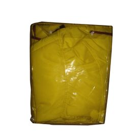 Zorba Designer Dual Protection Safety Raincoat for Large Dogs, yellow, 26 inch
