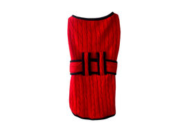 Zorba Premium Winter Sweater for Large Breed Dogs, red, 26 inch