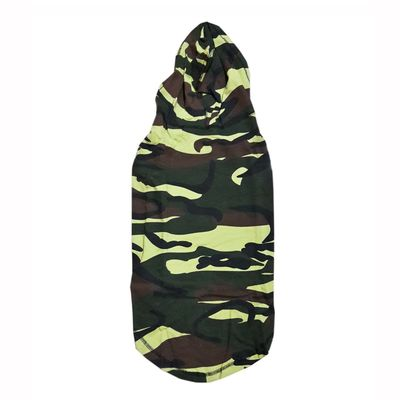 Zorba Designer Camouflage Hoodie Tshirt for Medium Dogs, 22 inch