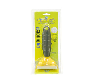 Furminator Professional Deshedding Tool for Medium Dogs and Cats, yellow