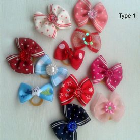 Puppy Love Economy Hair Bows for Pets, type 1, assorted
