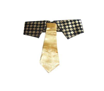 Zorba Designer Sparkler Fancy Collar with Tie for Dogs, golden, small