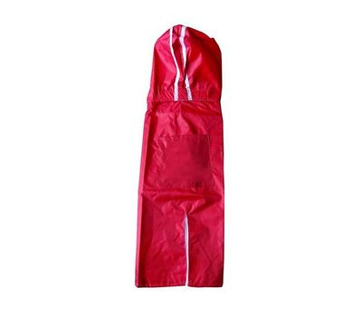 Rays Deluxe Solid Raincoat for Medium to Large Dogs, red, 24 inch