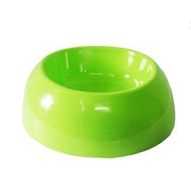 Canine Plastic Non Topple Bowl, green, medium