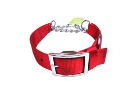 Canine Nylon Choke Collar for Large to Giant Dogs, large, red