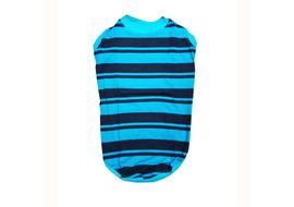 Zorba Designer Striped Tshirt for Large Dogs, blue, 26 inch