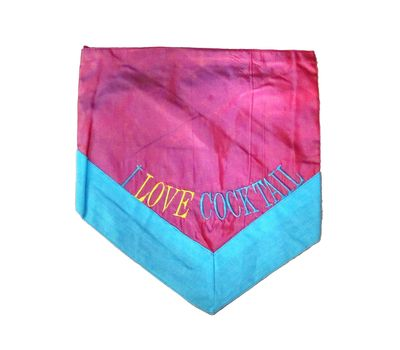 Zorba Designer Fancy Dog Bandana, small, pink