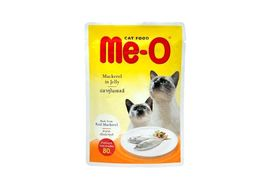 MeO Mackerel in Jelly Gravy Cat Food, 80 gms