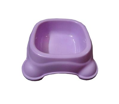Imported Square Anti Skid Plastic Bowl, small, purple