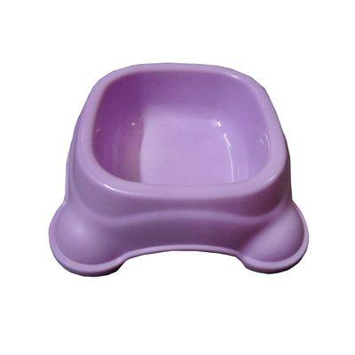 Imported Square Anti Skid Plastic Bowl, small, purple